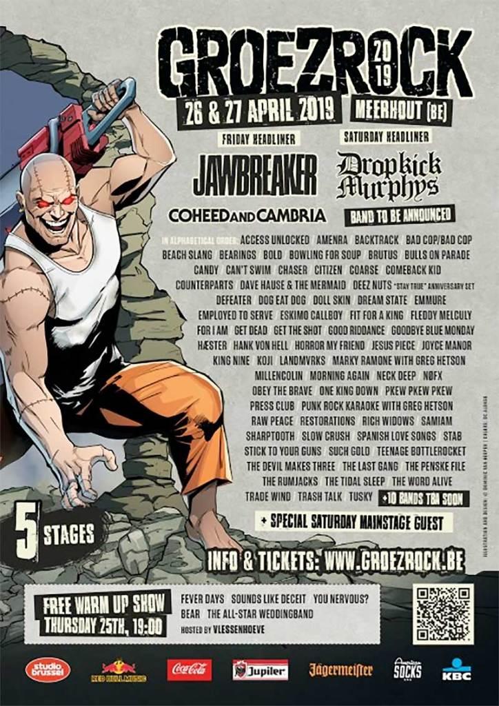 Groezrock Festival 2019 latest poster feb19