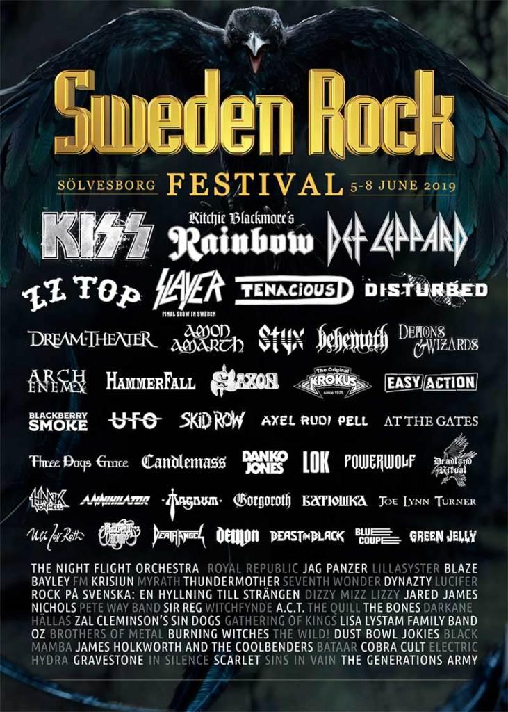 Sweden Rock Festival 2019 final poster