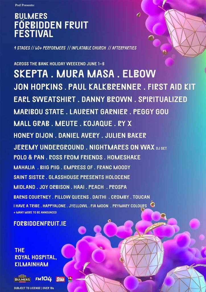 Forbidden Fruit Festival 2019 latest poster