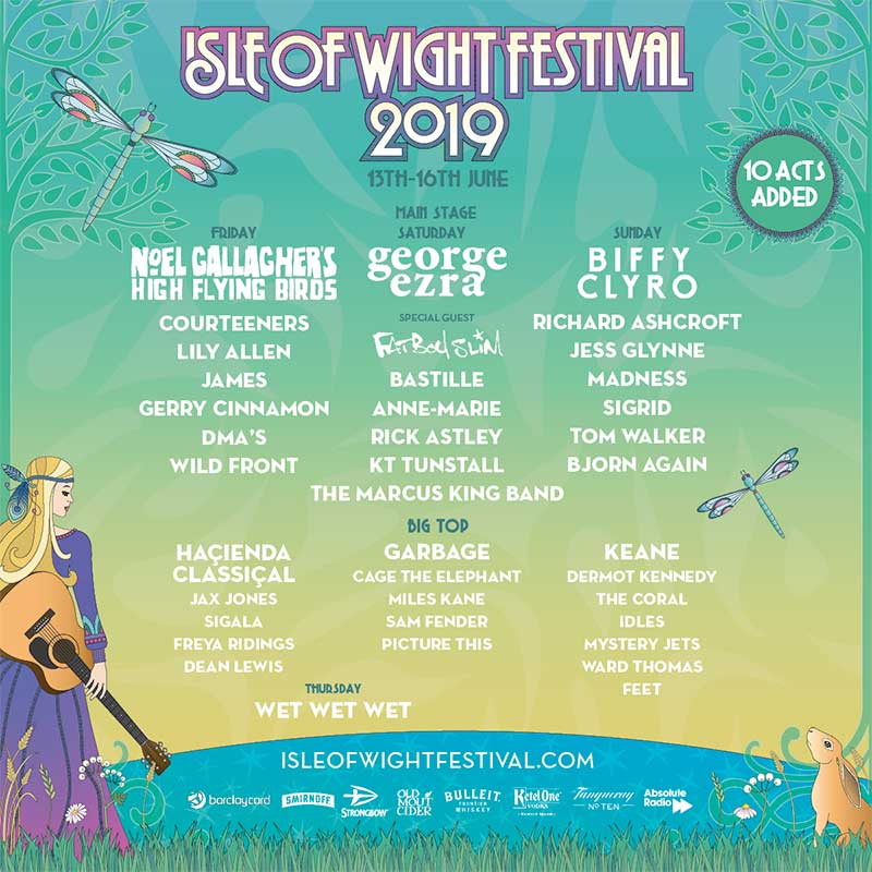 Isle of Wight Festival 10 new acts poster