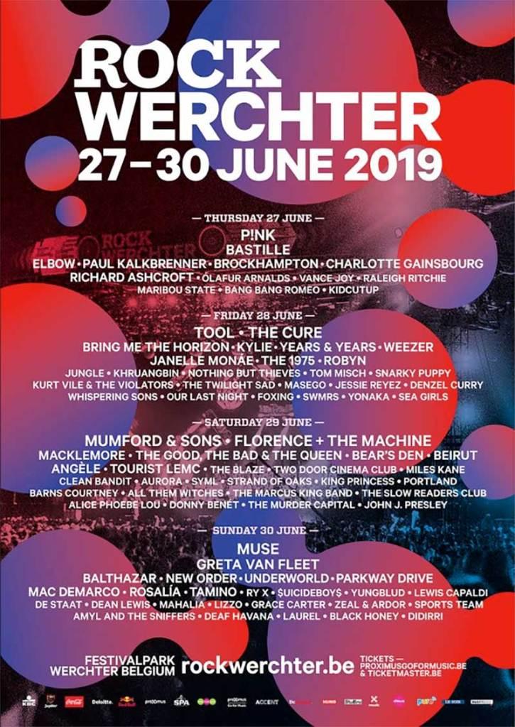 Rock Werchter Festival 2019 full poster