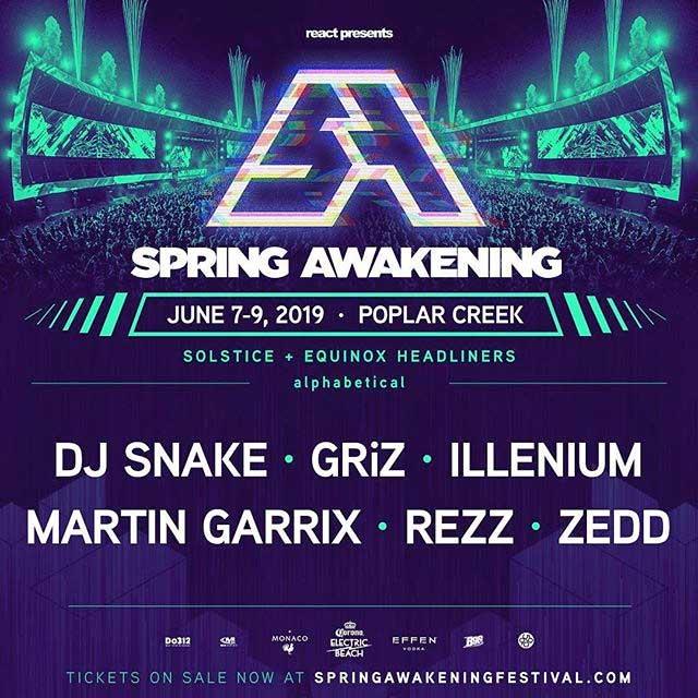 Spring Awakening Festival 2019 headliner poster