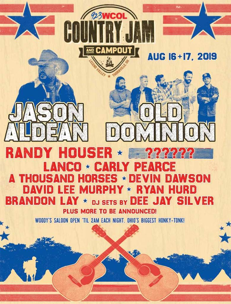 Country Jam Campout 2019 USA poster