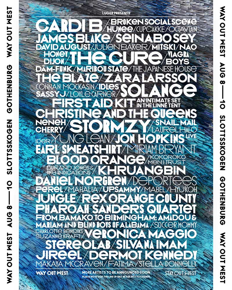 Way Out West 2019 poster Solange in Sweden
