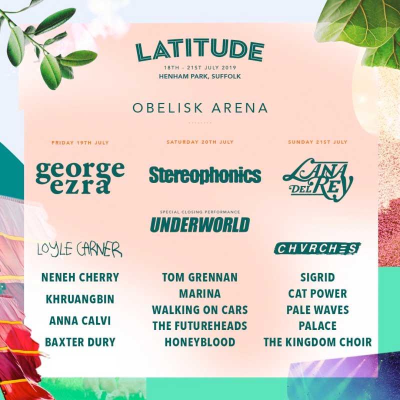 Latitude Festival 2019 UK Obelisk Arena poster