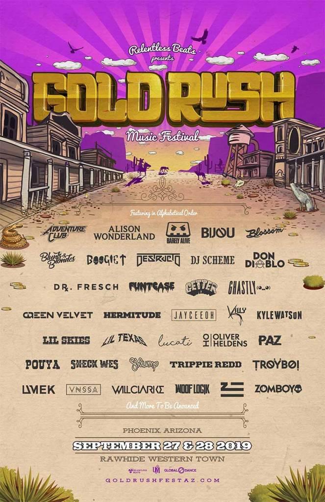 Goldrush Music Festival 2019 phase 2 poster