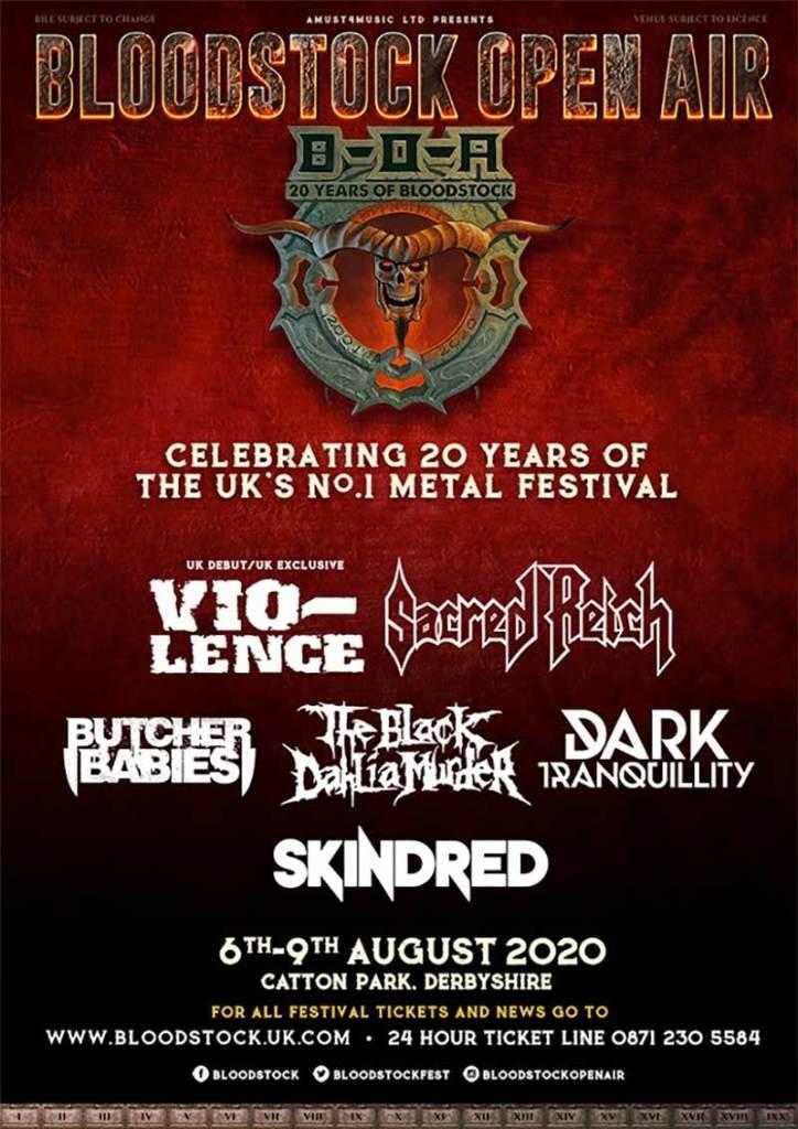 Bloodstock Festival UK 2020 first bands poster
