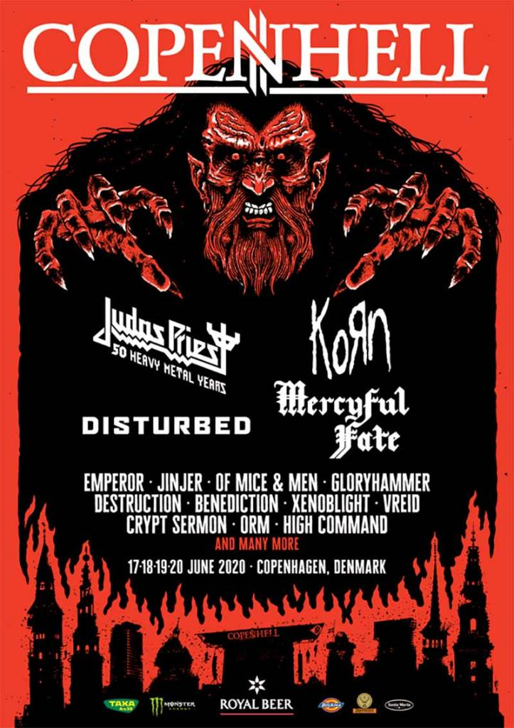 Copenhell 2020 first bands poster Denmark