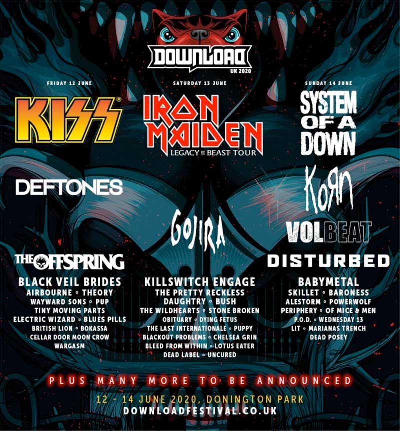 Download Festival UK 2020 2nd announce poster