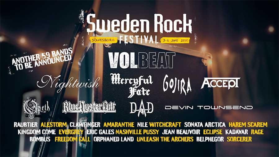 Sweden Rock Festival 2020 first bands poster