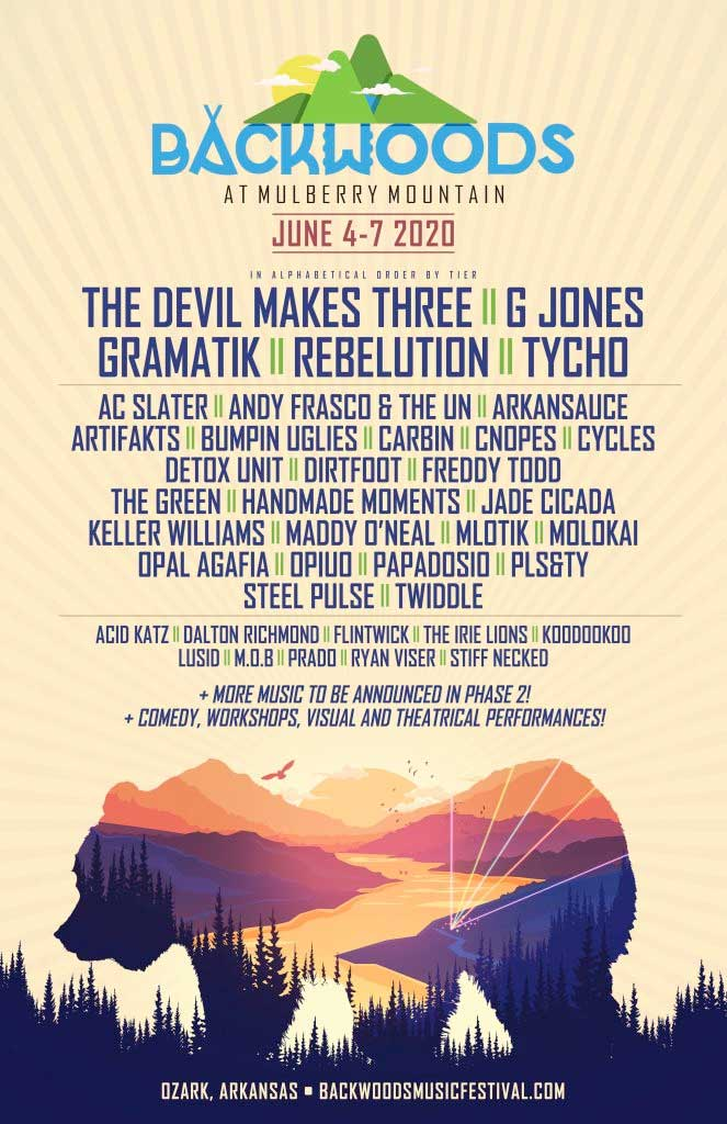 Backwoods Festival USA 2020 first acts poster