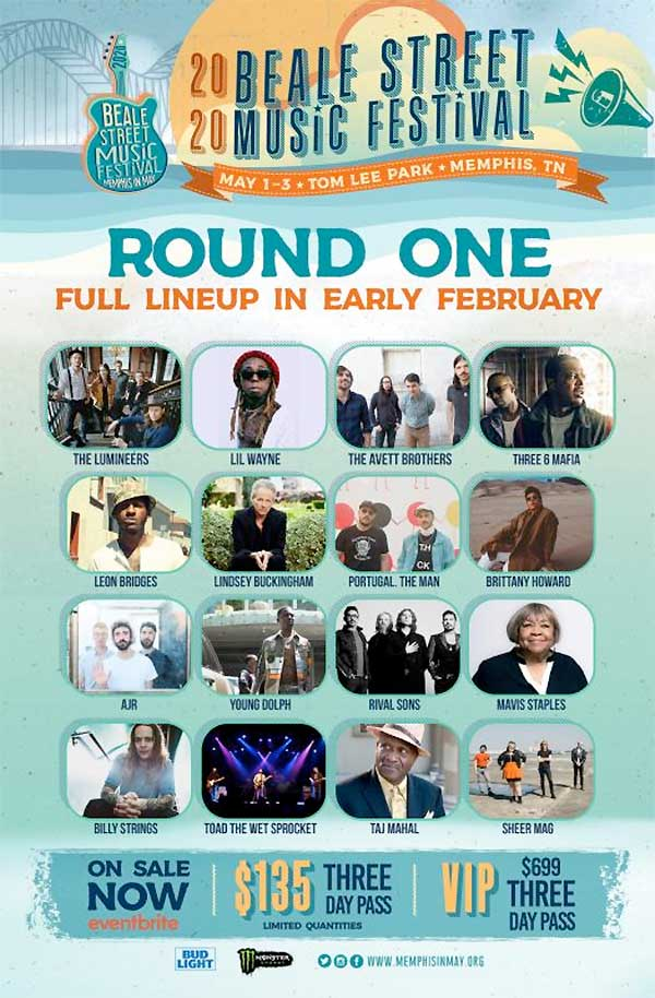 Beale Street Music Festival 2020 first round poster