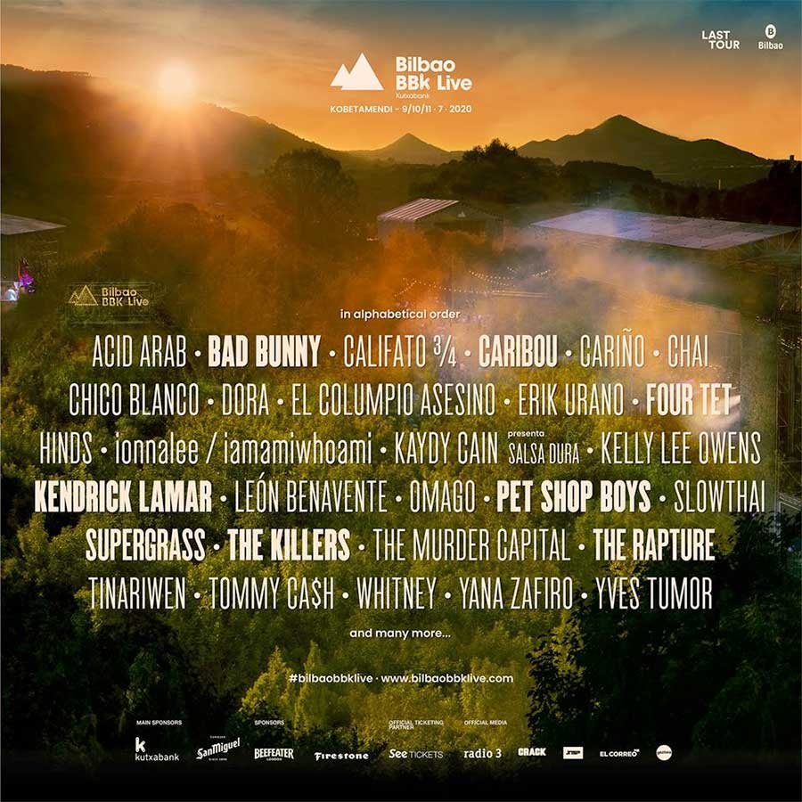 Bilbao BBK Live 2020 first acts poster