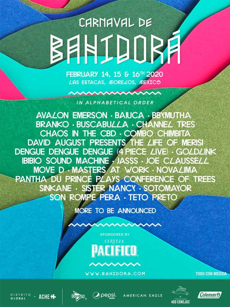 Carnaval de Bahidora 2020 first acts poster