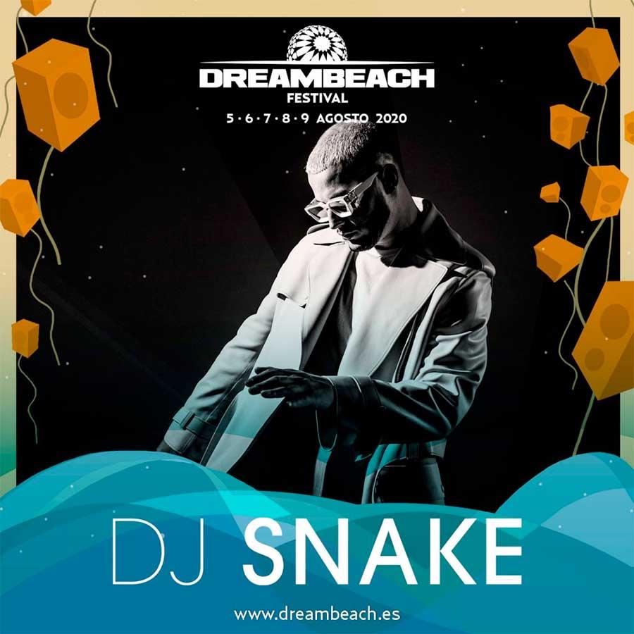DJ Snake plays Dreambeach Festival 2020 poster