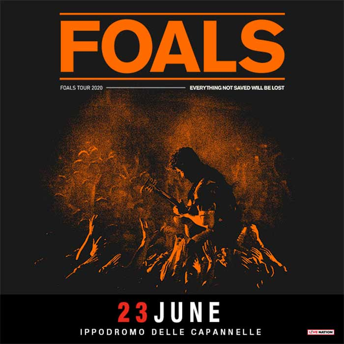 Foals to play Rock in Roma 2020 poster