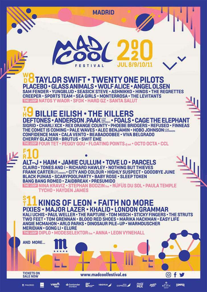 Mad Cool Festival 30 new acts poster