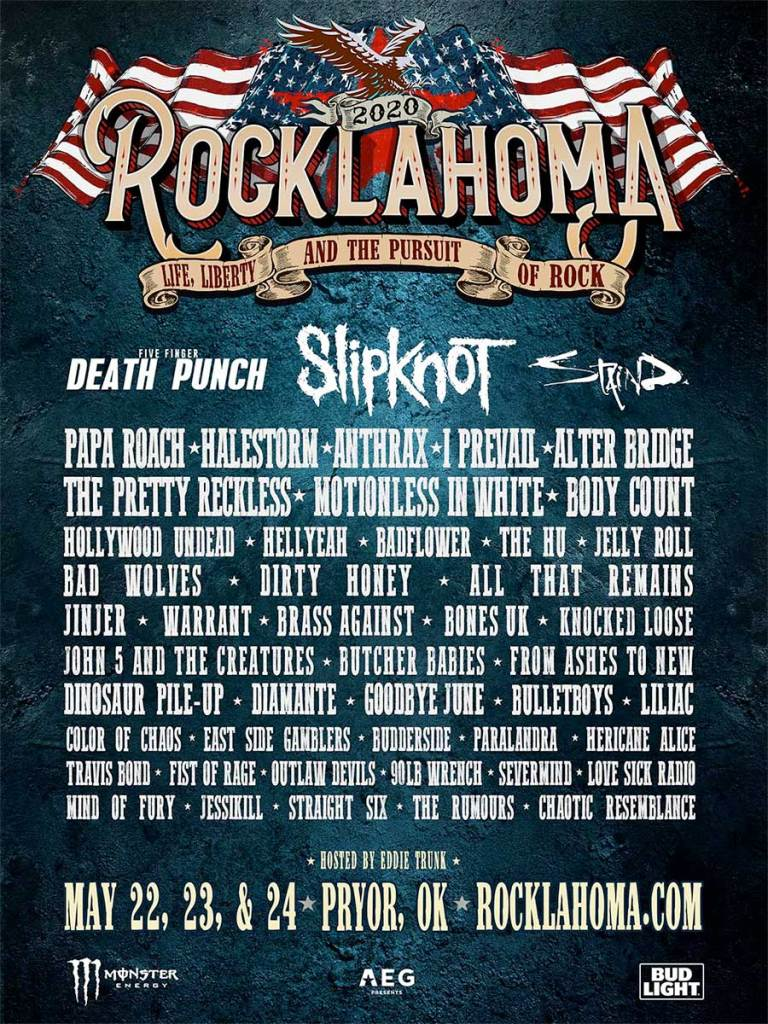 Rocklahoma Festival 2020 poster