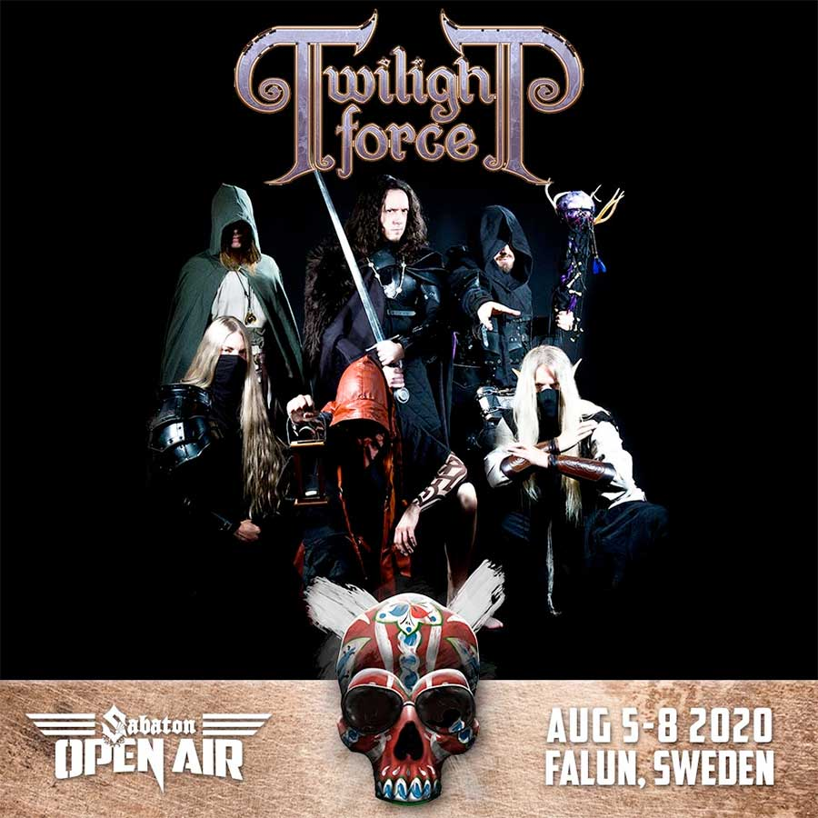 Twighlight Force play Sabaton Open Air Festival 2020 poster