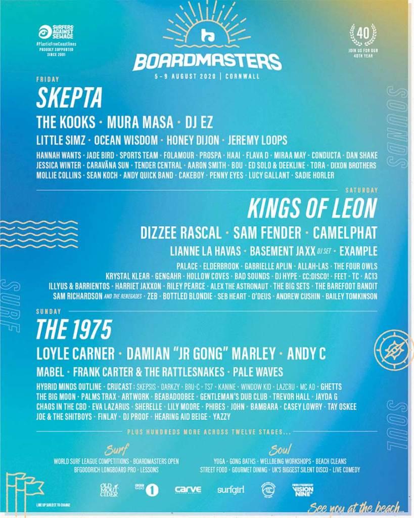 Boardmasters Festival UK 2020 poster