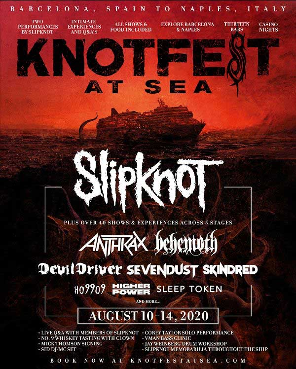 Knotfest at Sea 2020 first poster