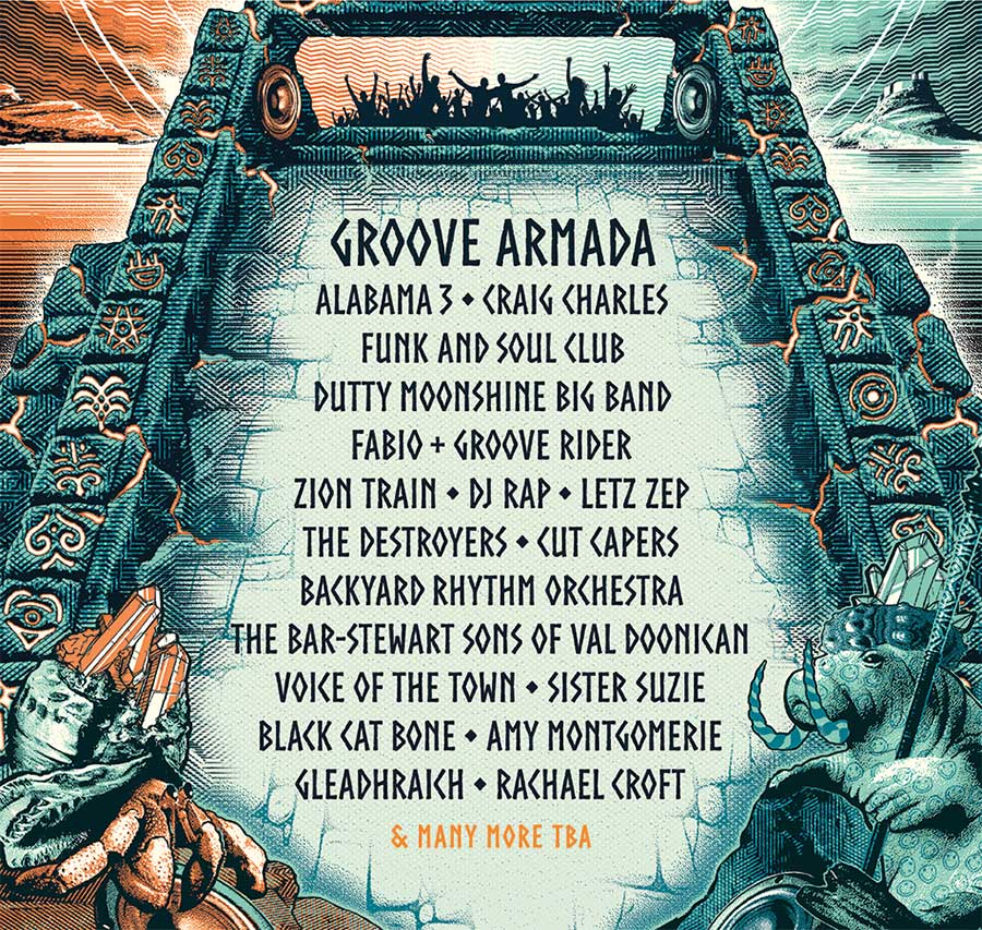 Lindisfarne Festival 2020 first acts poster