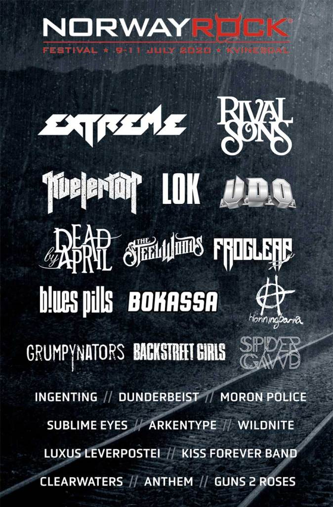 Norway Rock Festival 2020 final poster