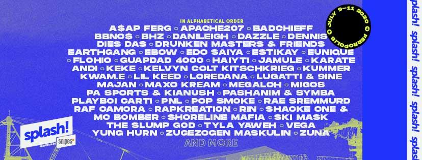 Splash Festival 2020 new poster
