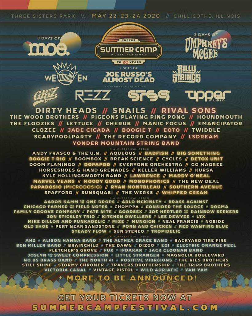 Summer Camp Festival USA 2nd round poster