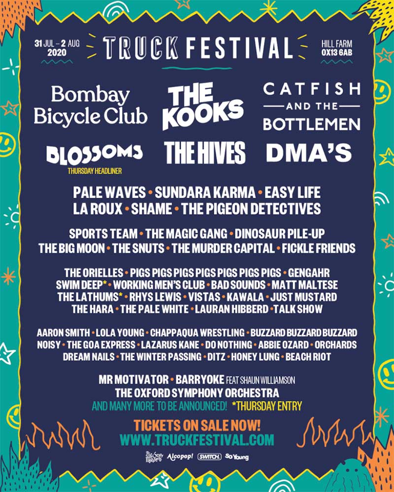 Truck Festival UK 2020 first acts poster
