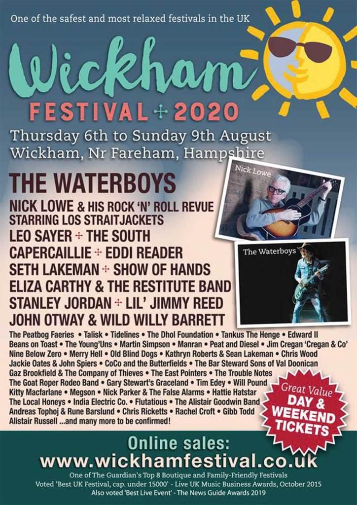 Wickham Festival UK 2020 poster