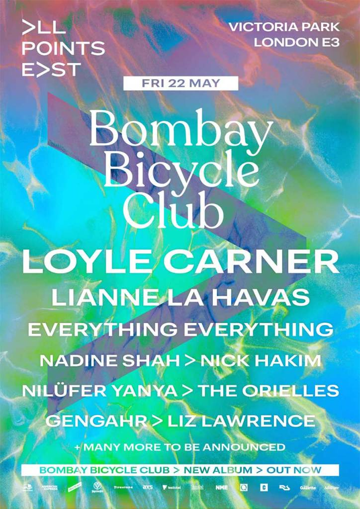 All Points East 2020 Bombay Bicycle Club poster