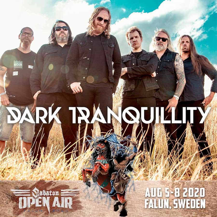 Dark Tranquillity play Sabaton Open Air 2020 poster