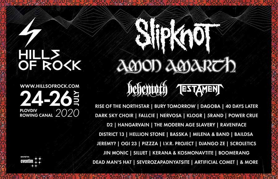 Hills of Rock 2020 11 new bands poster