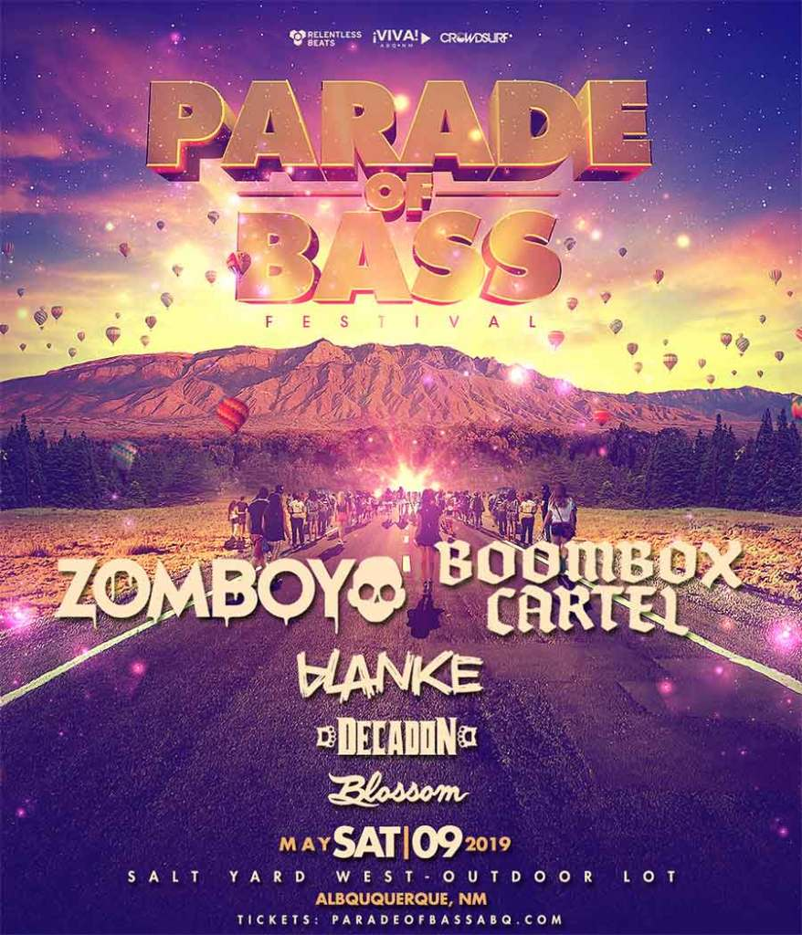 Parade of Bass Festival 2020 first poster