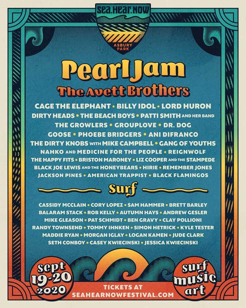 Sea Hear Now Festival 2020 poster