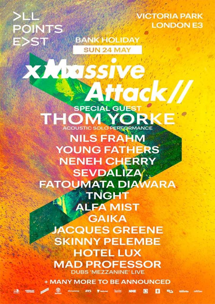 Thom York plays All Points East 2020 poster