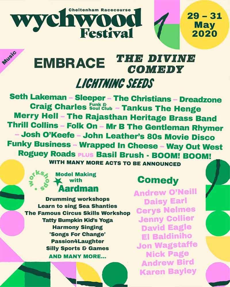 Wychwood Festival UK 2020 first poster