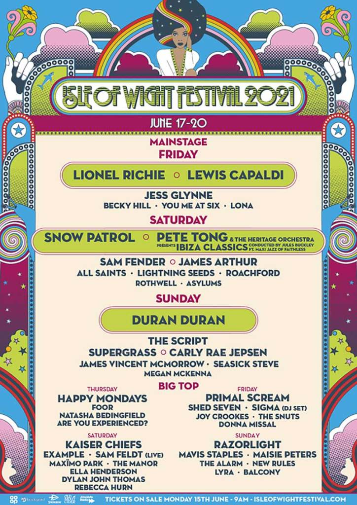 Isle of Wight Festival poster 2021