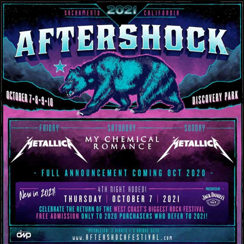 Aftershock Festival headliners 2021 poster