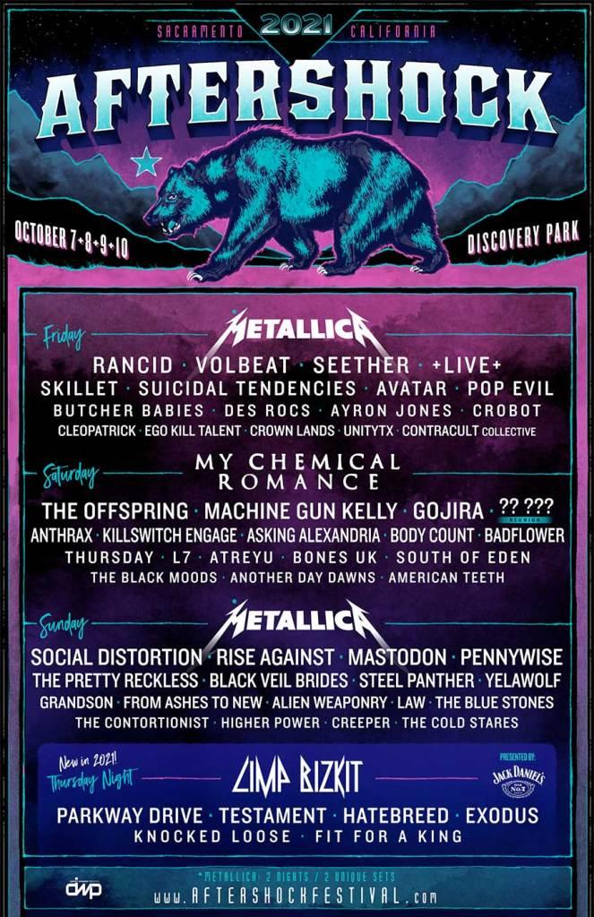 Aftershock Festival 2021 poster