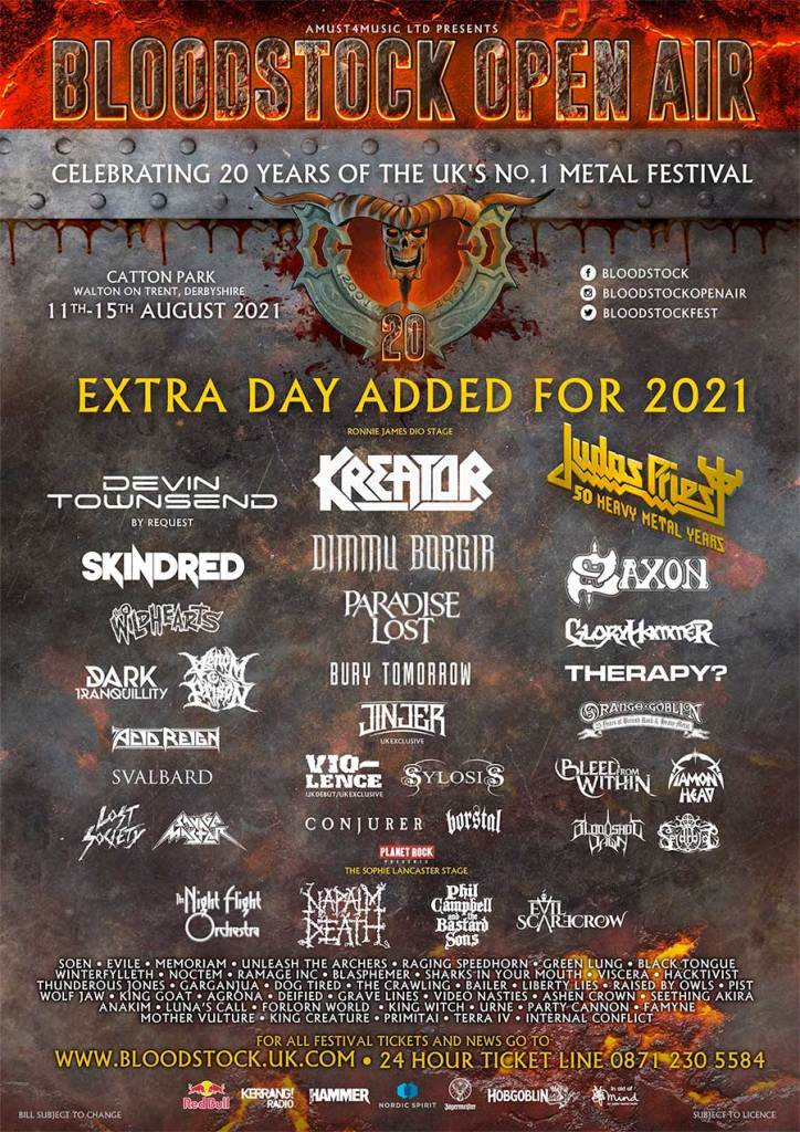 Bloodstock Festival 2021 poster may