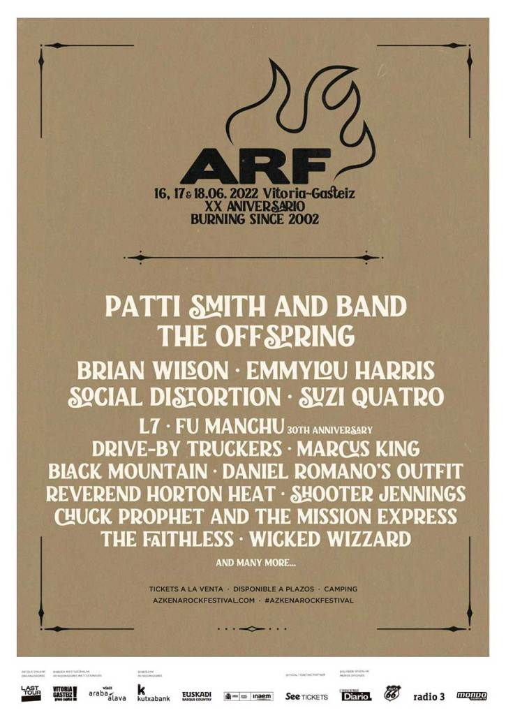 Azkena Rock Festival 2022 first poster