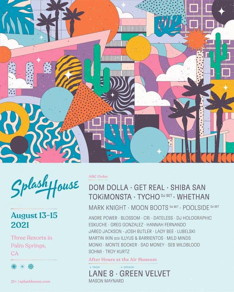 Splash House 2021 weekend 1 poster