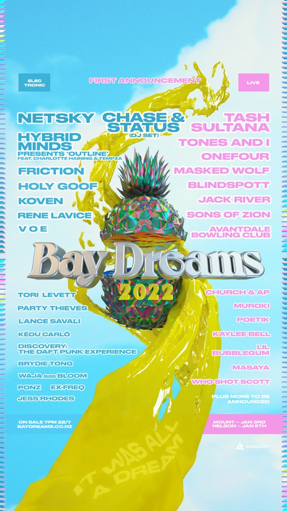 Bay Dreams Festival 2022 first announce poster