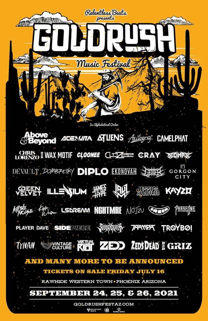 Goldrush Music Festival 2021 phase 1 poster