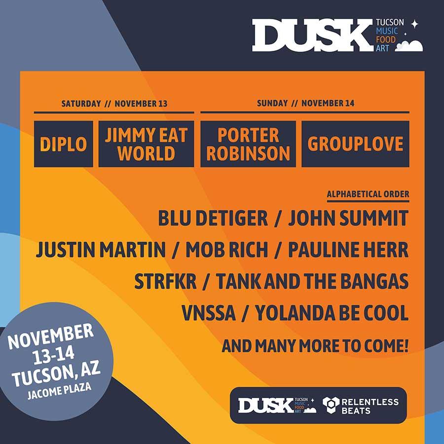 Dusk Festival Arizona 2021 poster