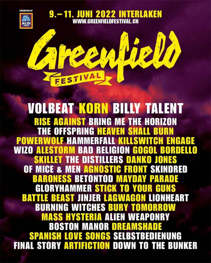 Greenfield Festival 2022 final line up poster