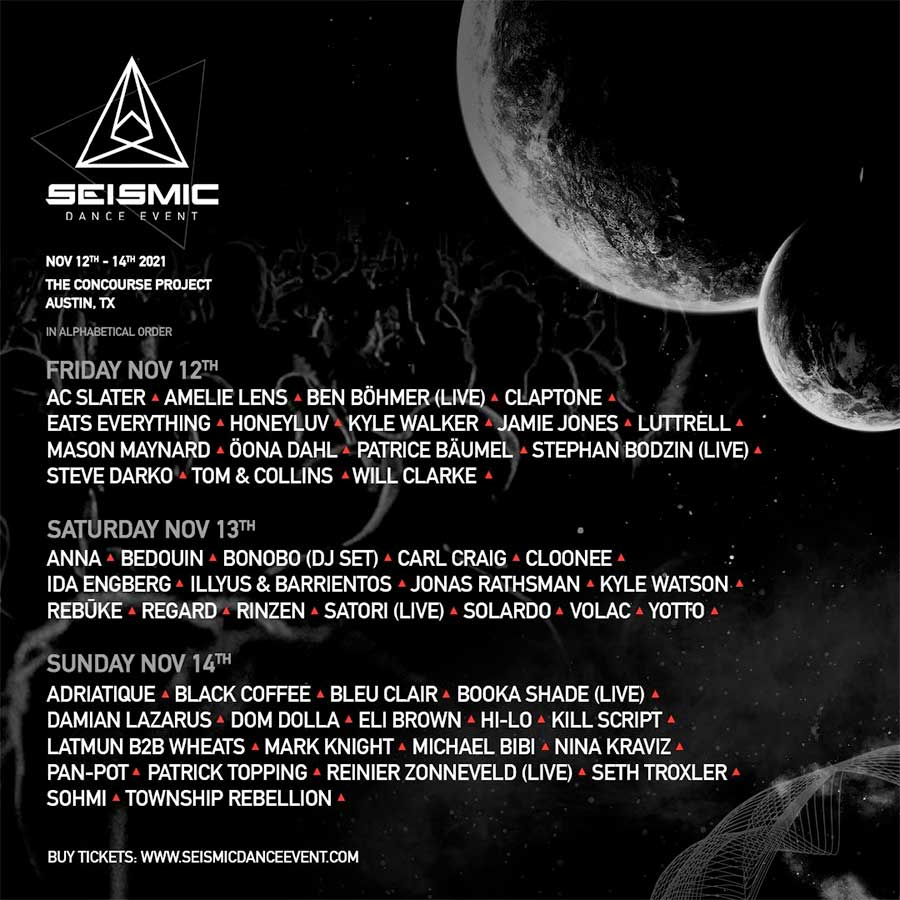 Seismic Dance Event 2021 final poster