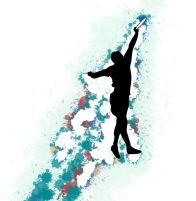 Ultimate Frisbee jumping art work drawing